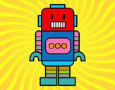 Dibujo Robot alto pintado por PABLO_HM
