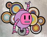 Dibujo Robot con rueda pintado por isa002