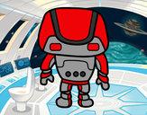 Dibujo Robot fuerte pintado por luxius
