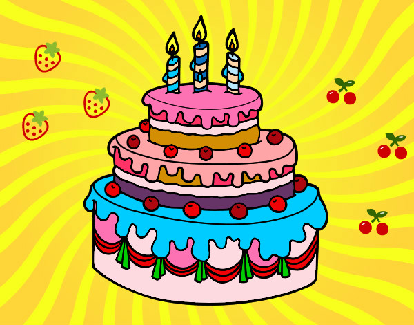 Dibujo tarta cumple imagui - Felicitaciones cumpleanos infantiles ...