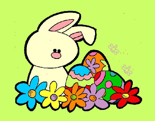 Dibujo de conejito de pascua pintado por lamorales en - Dibujos infantiles para imprimir pintados ...