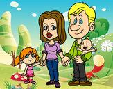 Dibujo Familia feliz pintado por pipilargas