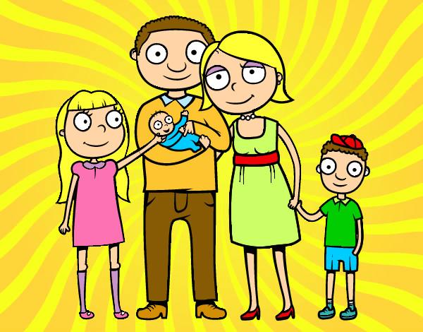 Dibujo de familia unida pintado por Helena9 en Dibujos.net el día ...
