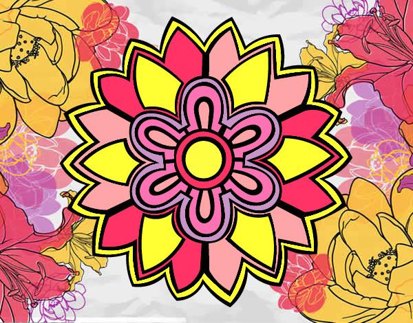 Dibujo De Flor De Loto Pintado Por Ally198364 En Dibujos Net El Dia