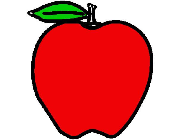 Dibujo de manzana pintado por Susely en Dibujosnet el da 2103