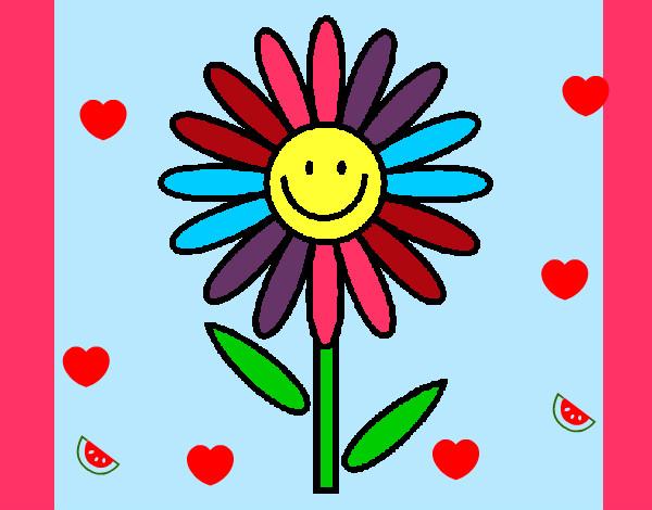 Flores En Dibujo A Color: Flores Dibujo Con Color