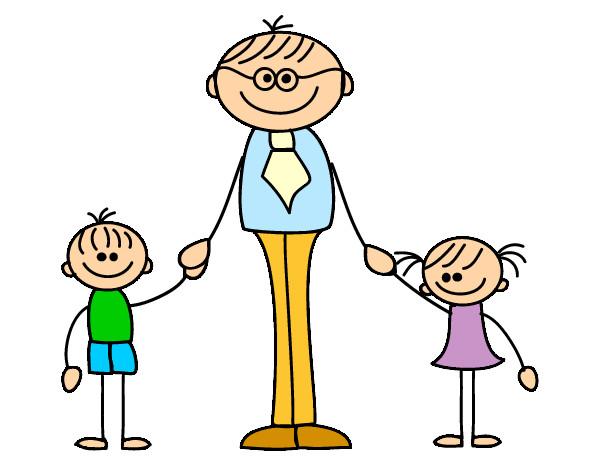 Dibujos de papás con sus hijos - Imagui