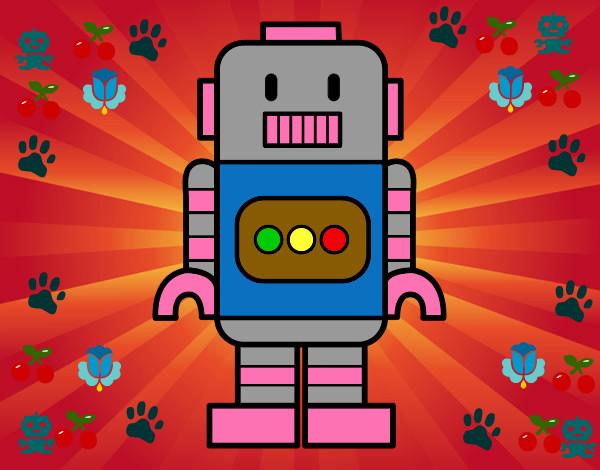 Worksheet. Dibujo de el robot santy pintado por Nicko en Dibujosnet el da