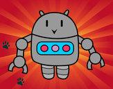 Dibujo Robot con pinzas pintado por FERGI