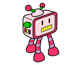Dibujo Robot televisivo pintado por Daaf