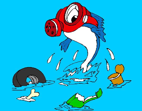 Dibujo de Contaminacin marina pintado por Lamorales en Dibujos