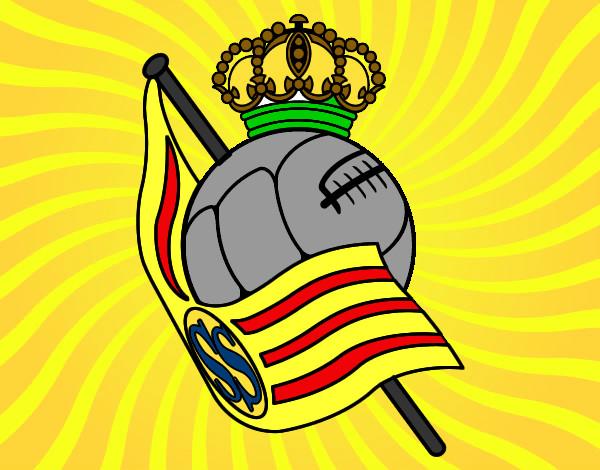 Dibujo De Jugador De Fútbol Con Balón Pintado Por Chicoxd: Dibujo De BALÓN DE FÚTBOL CON UNA BANDERA Pintado Por