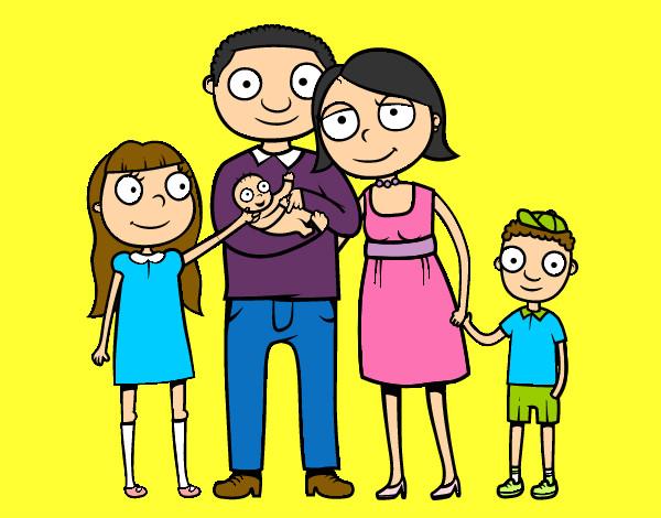 Dibujo de mi familia pintado por Demi190 en Dibujosnet el da 30