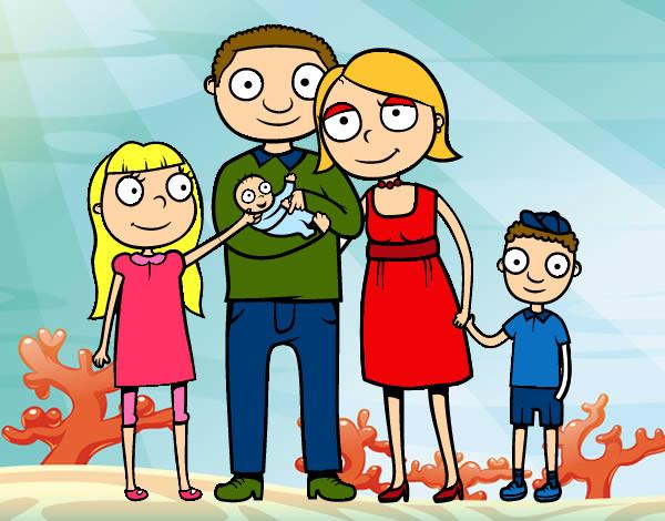 Worksheet. Dibujo de Family pintado por Nekane123 en Dibujosnet el da 3103