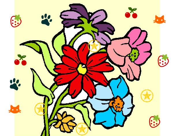 Flores En Dibujo A Color: Dibujo De Flores A Color. Stunning Dibujos De La Profesion
