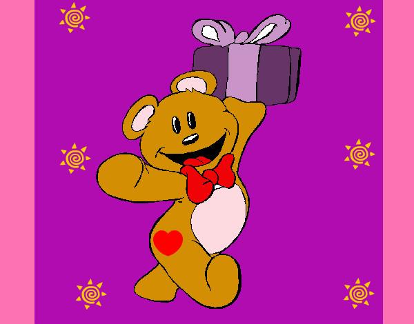 Dibujo de oso feliz pintado por Helaee en Dibujosnet el da 2903