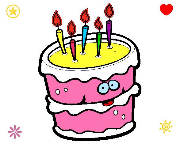 Dibujo de Pastel de cumpleaños 2 pintado por Fabox en ...