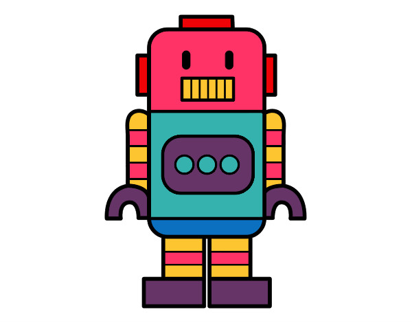 Dibujo De Robot Alto Pintado Por Sofiisi En Dibujos.net El