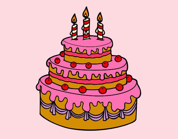 Dibujo de Tarta de cumpleaños pintado por Natanatati en ...