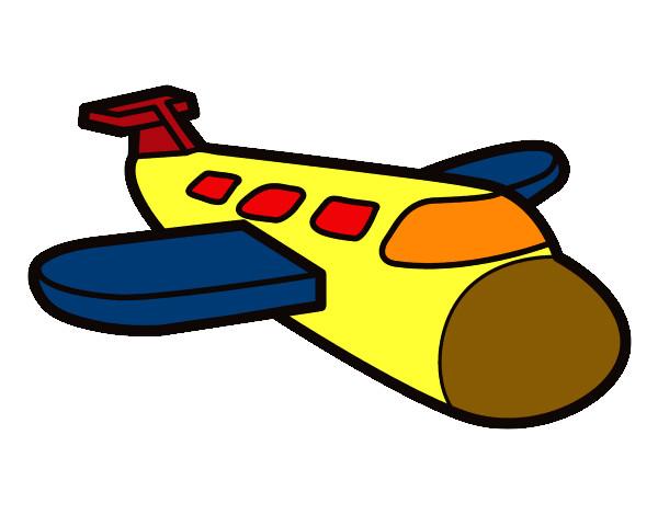 Dibujo de avion pintado por Jairelmejo en Dibujosnet el da 0804