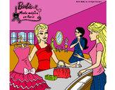 Dibujo Barbie en una tienda de ropa pintado por Liria2000