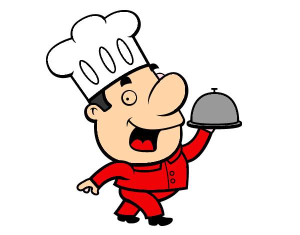 Dibujo de chef pintado por mixto en el d a 03 - Dibujos de cocineros para colorear ...