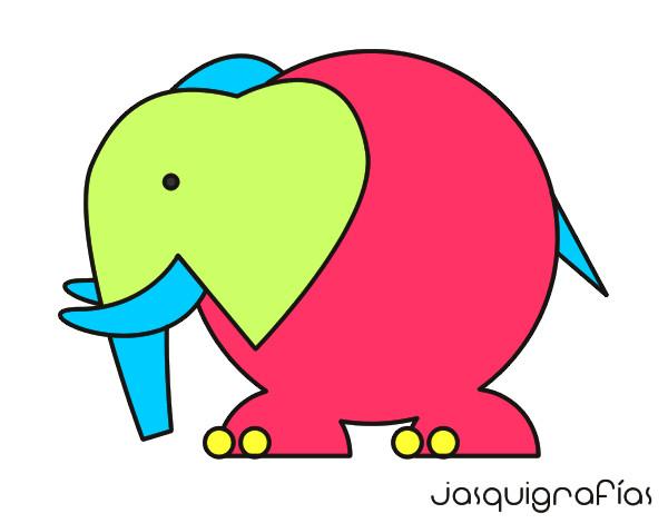 Dibujo de el elefantito colorin pintado por Asdin13 en Dibujosnet