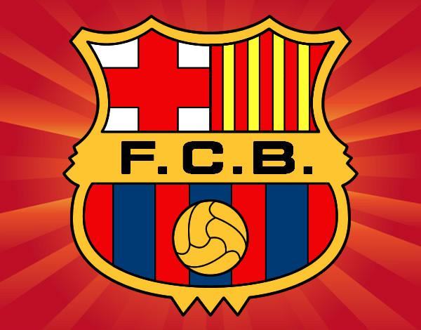 Dibujo de Escudo del F.C. Barcelona pintado por Stan en Dibujos ...