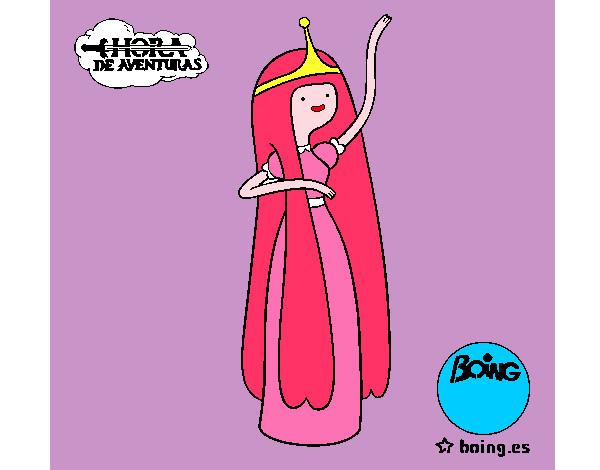 Dibujo de princesa chicle pintado por Marinanina en ...