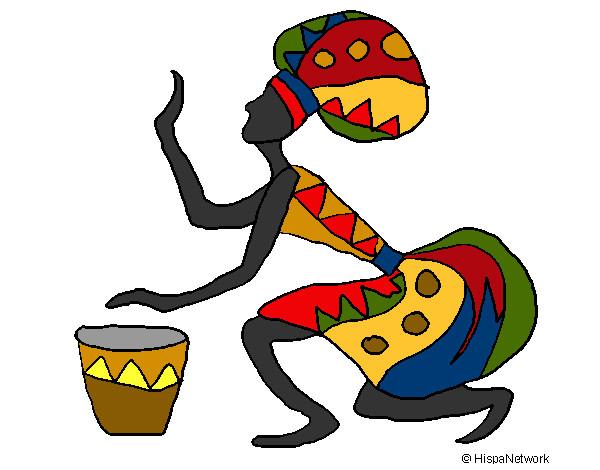 Dibujos De Una Tambora Y Guira: Dibujo De Bailando Folklor Para Colorear