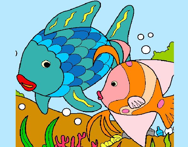 Dibujo de peces pintado por Queyla en Dibujosnet el da 080412
