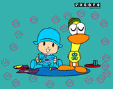 Dibujo Pocoyó y Pato pintado por tory