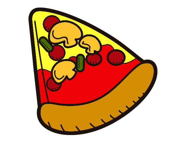 Dibujo de Porcin de pizza pintado por Laurilla97 en Dibujosnet