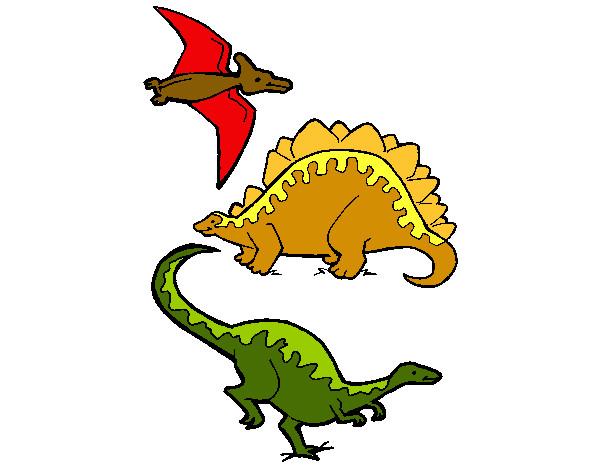 tres-clases-de-dinosaurios-animales-dinosaurios-pintado-por-carcar