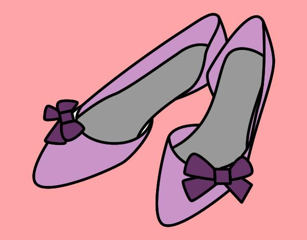 Dibujos De Lazos Para Imprimir Y Colorear: Dibujo De Zapatos Con Lazos Pintado Por Leerose1 En