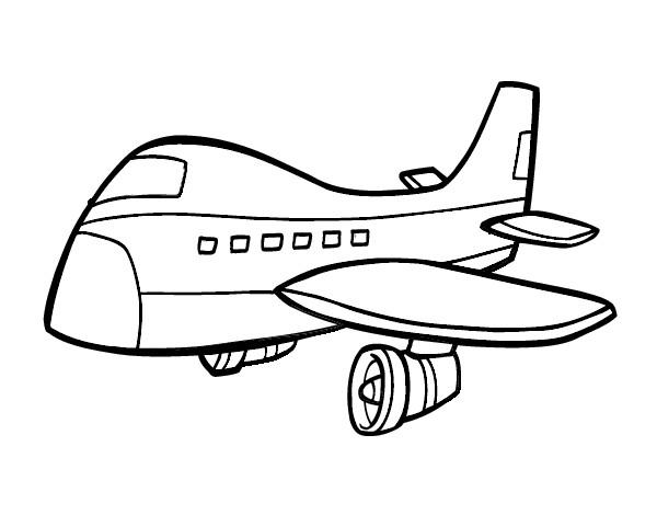 Moldes De Aviao Para Imprimir: Dibujo De Avio