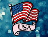 Dibujo Bandera de los Estados Unidos pintado por barbie123