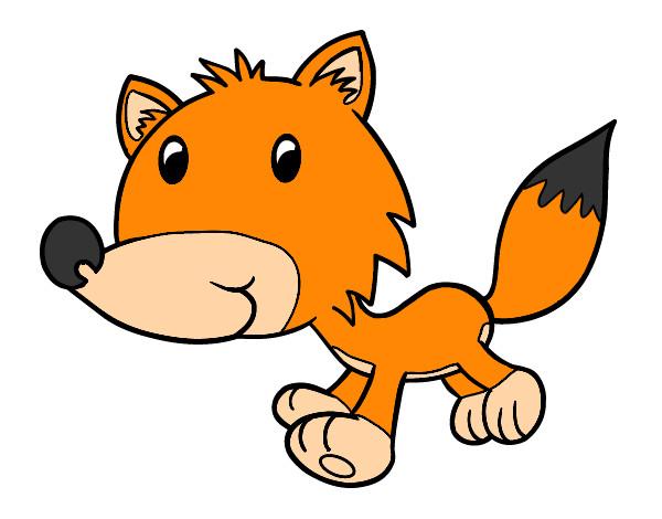 Dibujo De Un Bebe A Color: Dibujo De Coyote Bebé Pintado Por Popyta En Dibujos.net El