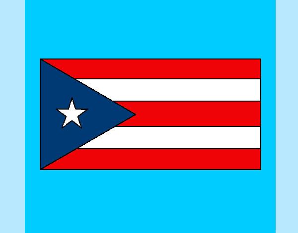 dibujo de bandera de puerto rico pintado por kathyria en dibujos net
