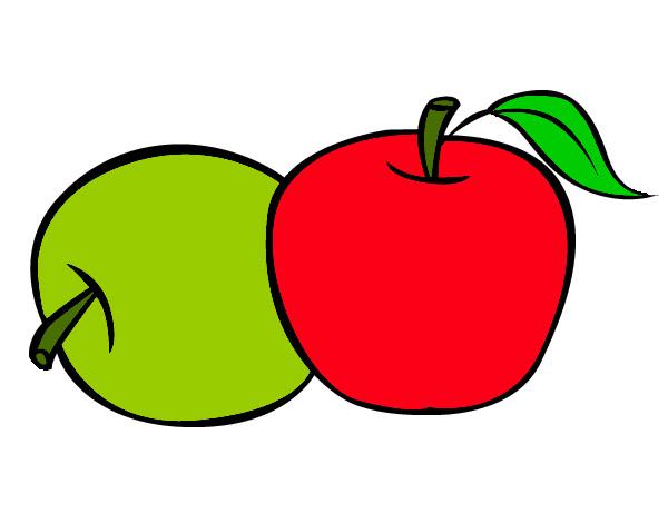 Dibujo de Manzanas pintado por Lokiita17 en Dibujosnet el da 09