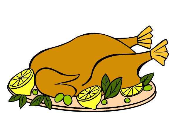 Dibujo de pollo asado pintado por Barbie123 en Dibujos.net el día ...