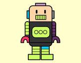 Dibujo Robot alto pintado por Loysar