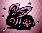 Dibujo Signo del conejo pintado por 4567