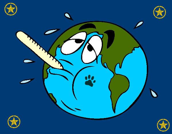 Dibujo de el mundo esta emfermo pintado por Leticia99 en Dibujos