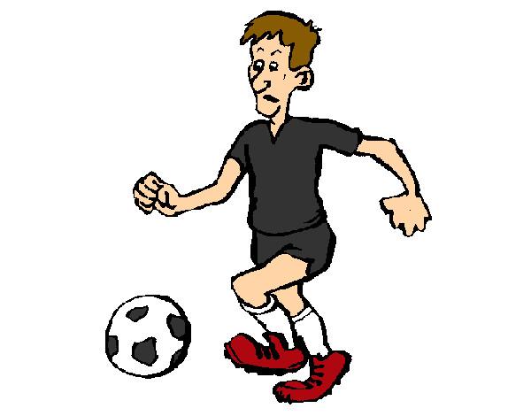Dibujo De Jugador De Fútbol Con Balón Pintado Por Chicoxd: Dibujo De Jugador De Fútbol Pintado Por Marina2907 En
