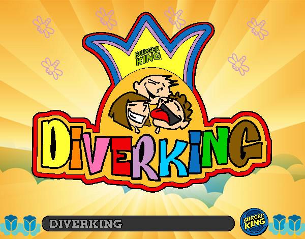 Dibujo De Logo Diverking Pintado Por Chef En Dibujosnet El