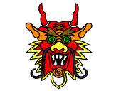 Dibujo Cara de dragón pintado por aylincita