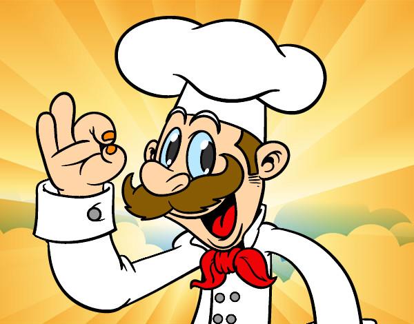 Dibujo de el cocinero pintado por pablo989 en for Herramientas de un cocinero