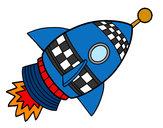 Dibujo Cohete espacial pintado por chiken