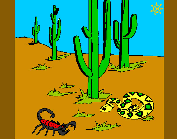 Dibujo de desierto pintado por Allu3 en Dibujosnet el da 0105